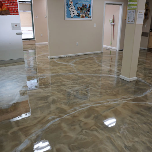 Metallic Epoxy Flooring Metallic Epoxy Garage Floor Coatings