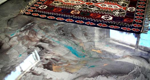 metallic epoxy resin floor